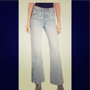Levi's Rib cage split flare jeans